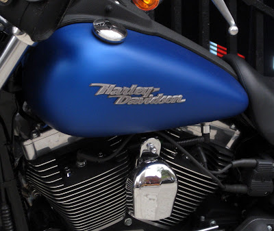 Electric Blue Harley Davidson