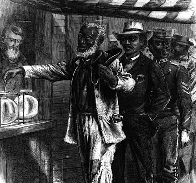 African Americans gained the right to vote