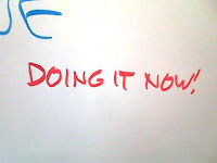 On the lab whiteboard