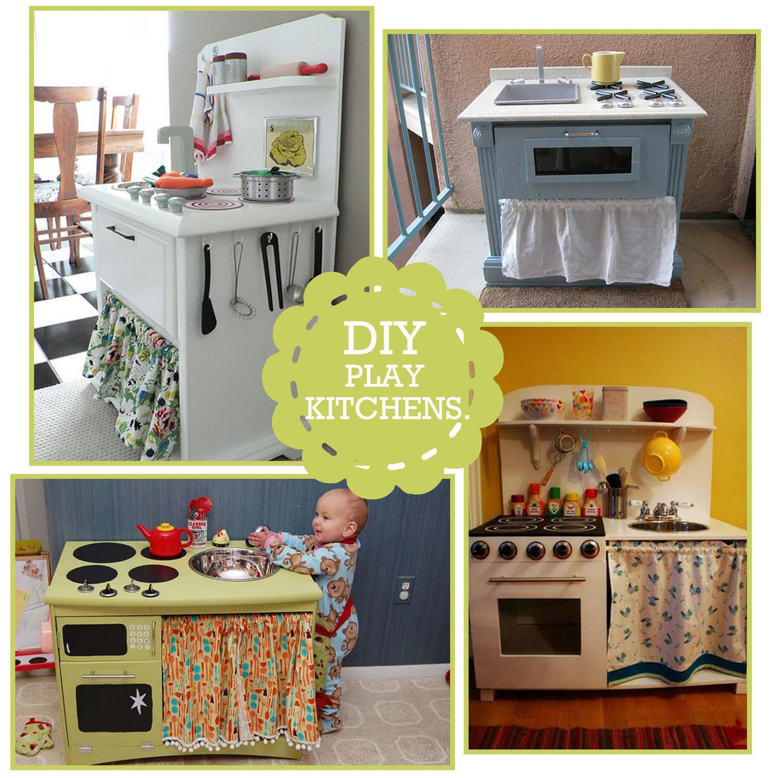 I M Dreaming Of A Diy Play Kitchen: DIY Kitchen Play Set: Photo Inspiration & Links + Giveaway