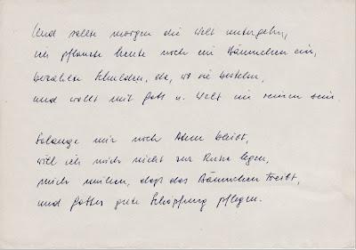 Erinnerungen An Alfred Gedicht Von Vater Abgeschrieben