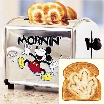 Disney Inspired Recipes with a Mickey Mouse Toaster Kitchen Accessories
