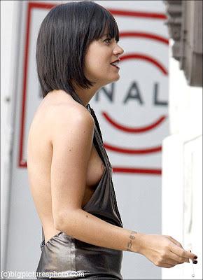 Congratulate, Lily allen nipple slip