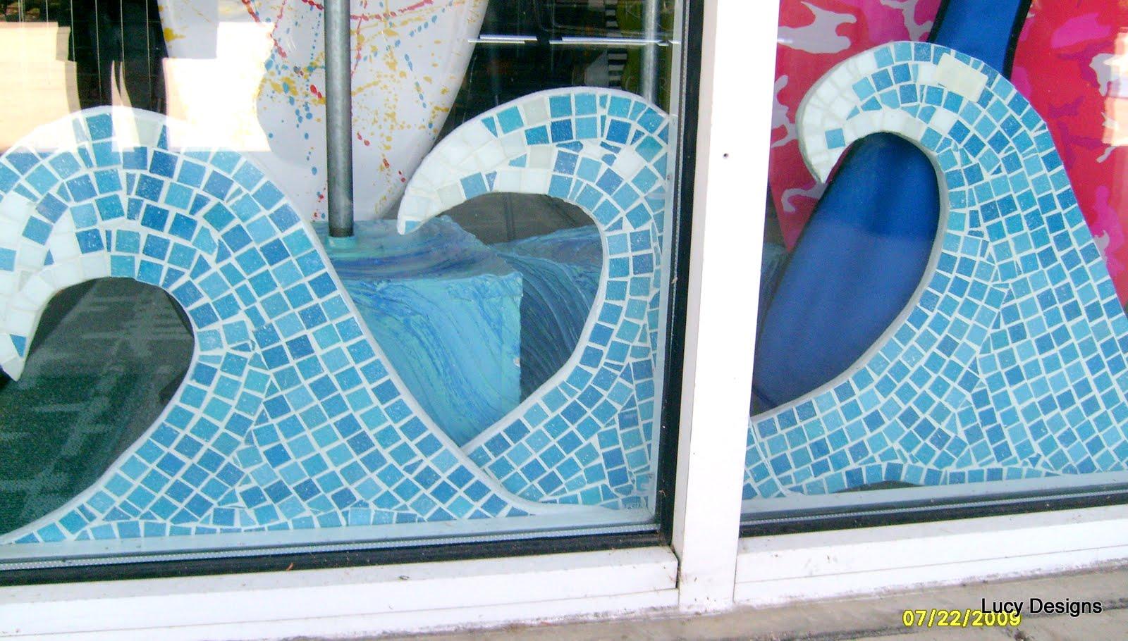 Mosaics Mosaic Name Sign Mosaic Surfboard Mosaic Waves