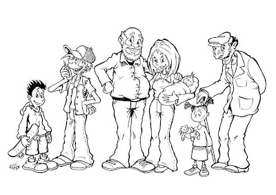 El Rincon De La Infancia Dibujos Para Pintar La Familia