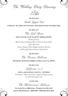 the wedding party itinerary the wedding library