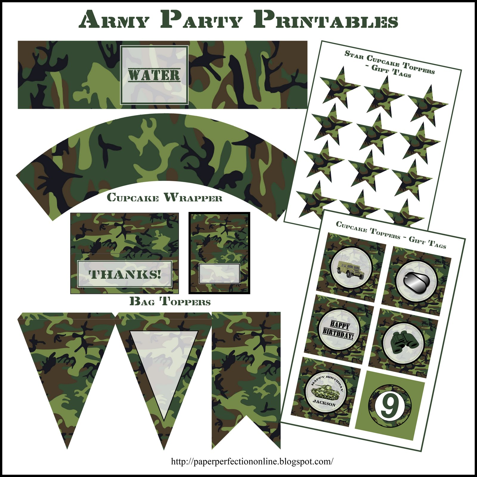Here Are A Few Pictures From One Of Paper Perfections Clients That Used The Printables For Her Sons Paintball Birthday Party