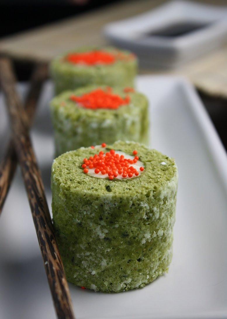 Matcha Cake Sushi Rolls Sprinkle Bakes
