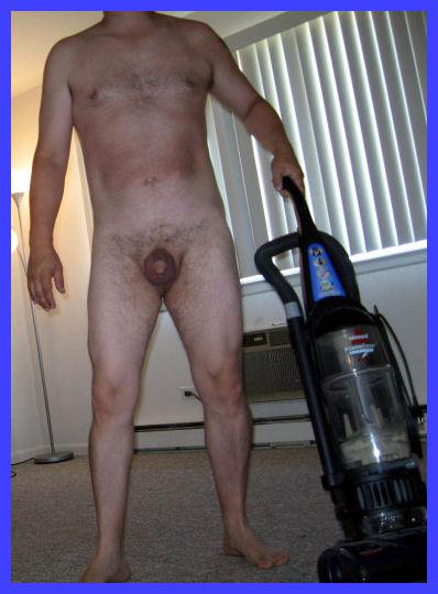 Vacuuming naked
