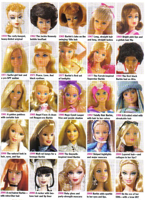 6fd3a495449 The Hair Hall of Fame: Time-Lapse Barbie Hair