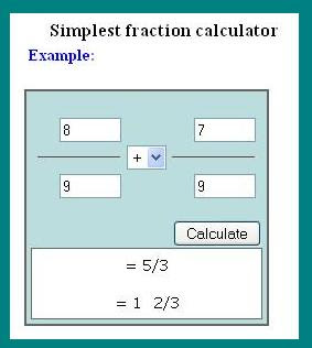 Simplest Form Calculator