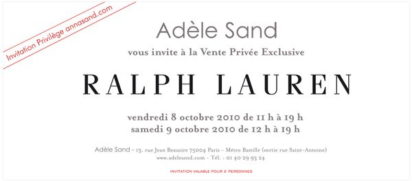 a61ced9d2b0 invitation vente privee ralph lauren