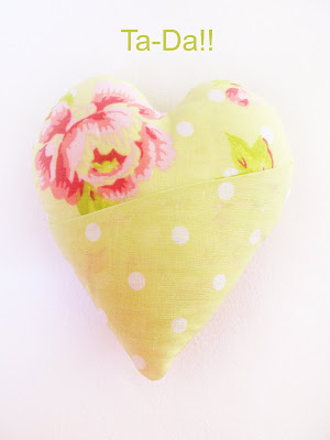 Fabric and Crochet Heart Tutorial: Part 1