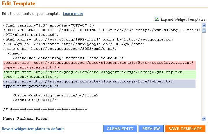 How to Use Blogger to Upload your Javascript ( js) files