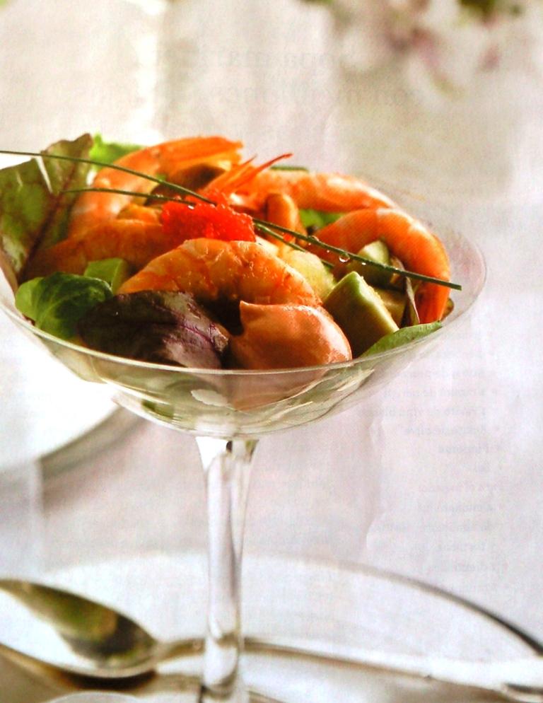 Las recetas de rosa c ctel de marisco con aguacate y manzana - Coctel de marisco con aguacate ...