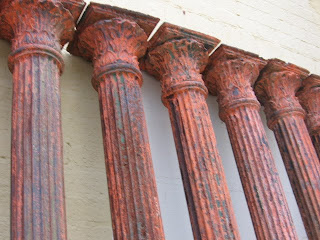 12 Cast Iron Fluted Columns With Decorative Capitals