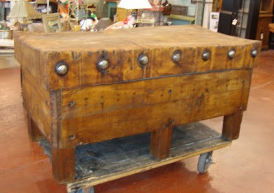 Butcher Block Table On Architectural Antiques Custom Designs Mive Vintage