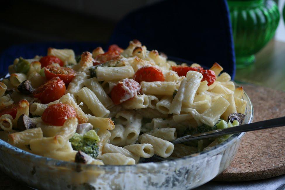 Hemma Hos Mig Pastagratang Med Svamp Broccoli