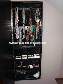 How to diy jewelry armoire my repurposed life diy hanging jewelry armoire solutioingenieria