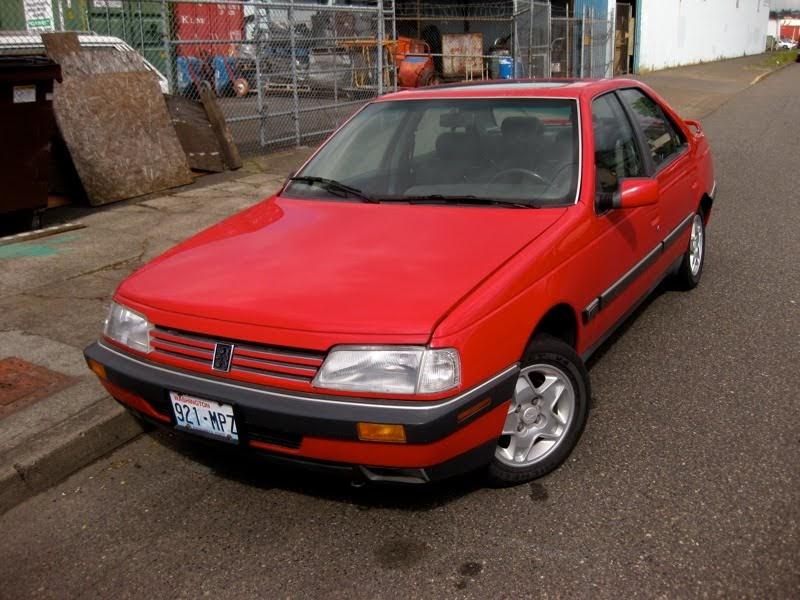 old parked cars 1989 peugeot 405 mi 16 sedan. Black Bedroom Furniture Sets. Home Design Ideas
