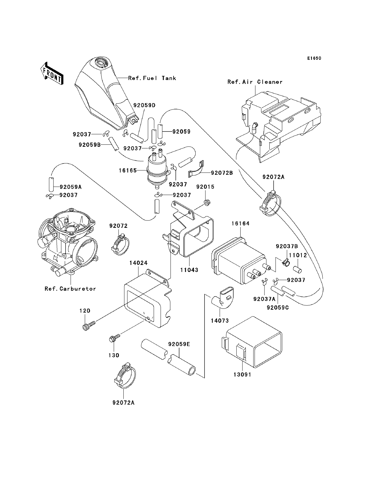 kawasaki klr250 parts diagrams blogs