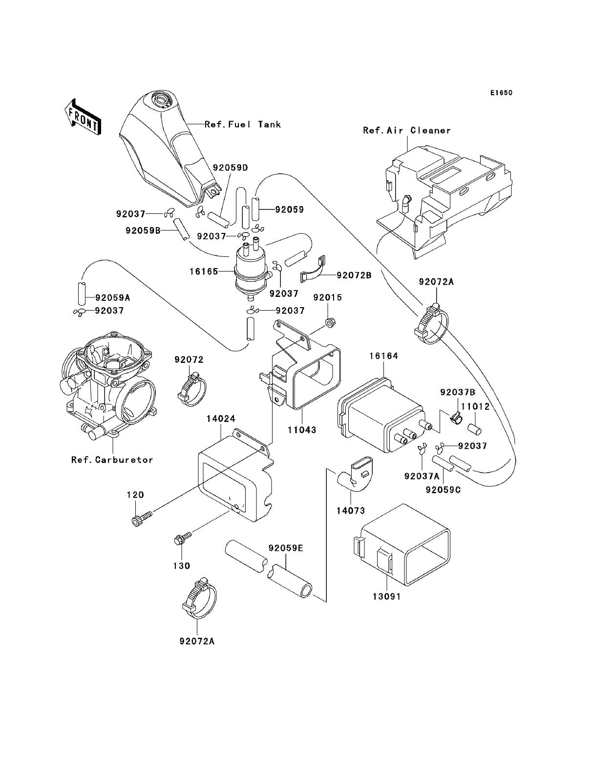 kawasaki bayou 250 carburetor diagram ford 7 pin trailer plug wiring klr carb imageresizertool com