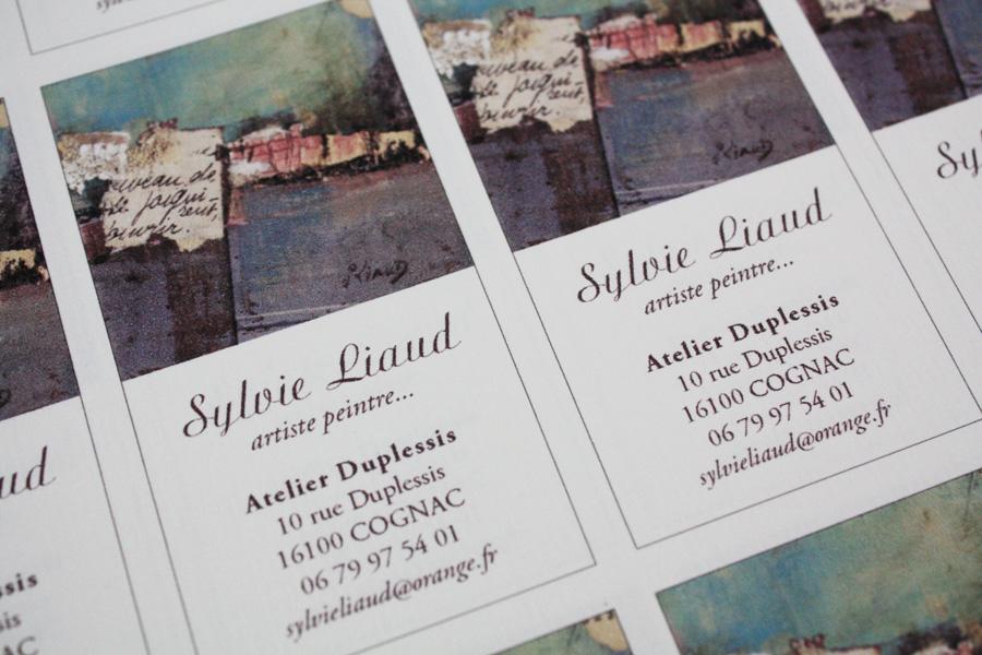 Un Petit Projet De Cartes Visite Realise Il Y A Quelques Mois Deja Pour Lartiste Peintre Sylvie Liaud Cognac