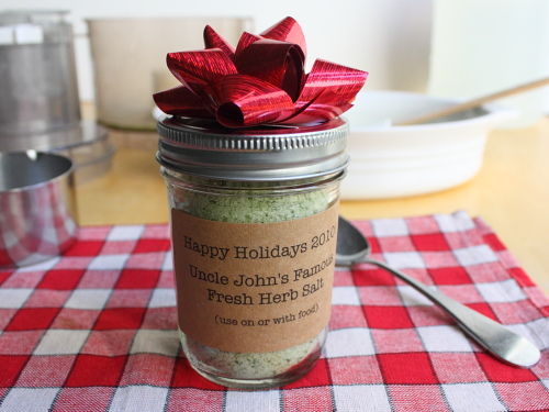 Food wishes video recipes holiday gift idea homemade herb salt holiday gift idea homemade herb salt remember youre not cheap youre creative forumfinder