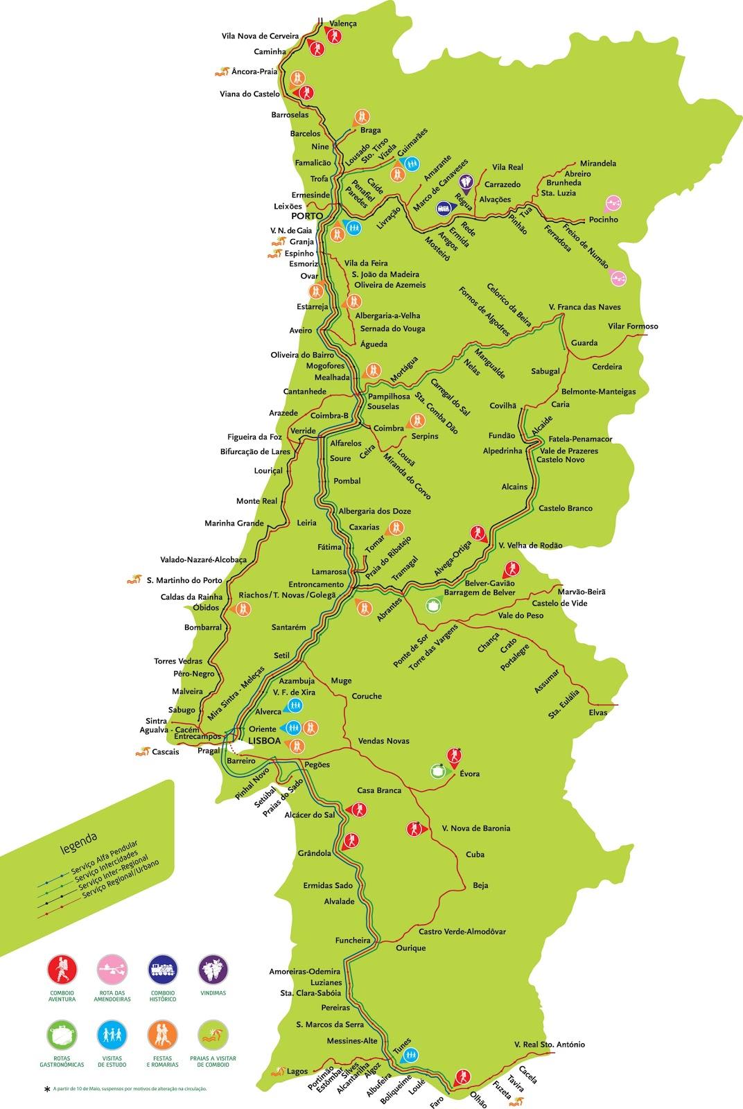 mapa comboios cp Cp Mapa Linhas | thujamassages mapa comboios cp