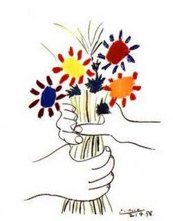 Resultat d'imatges de ram de flors pintat picasso