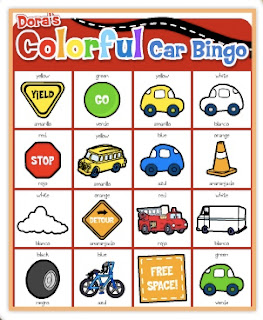 Colorful Car Bingo