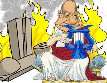 Resultado de imagem para Nero tocou fogo em roma: charges