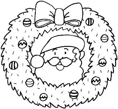 Coroa De Natal Desenhos Para Pintar