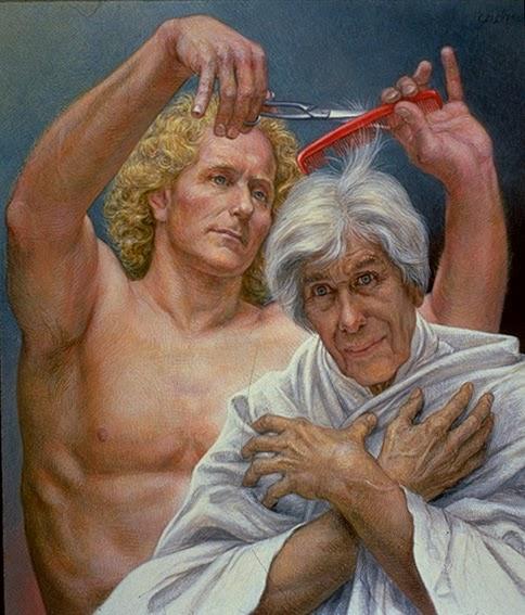Erotic drawings of marc blanton nymphs and satyr - 3 part 9