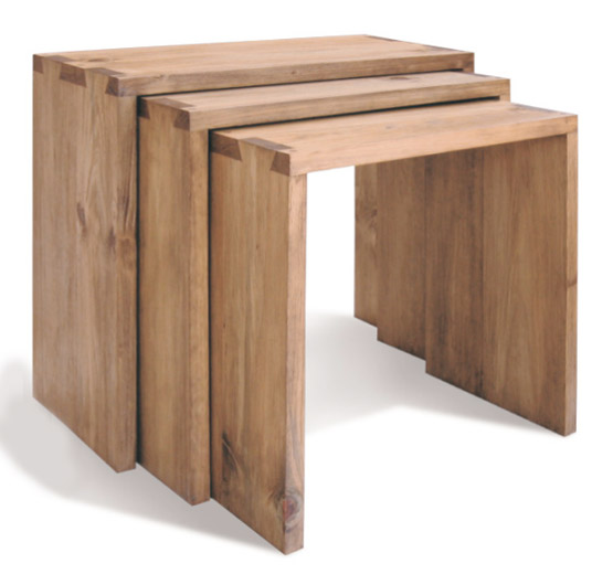 These Solid Pine Nesting Tables Are By Nestsandcubes Co Uk The Finish Is Really Nice Smooth But Not Shiny It S A Beautiful Set With Simple And