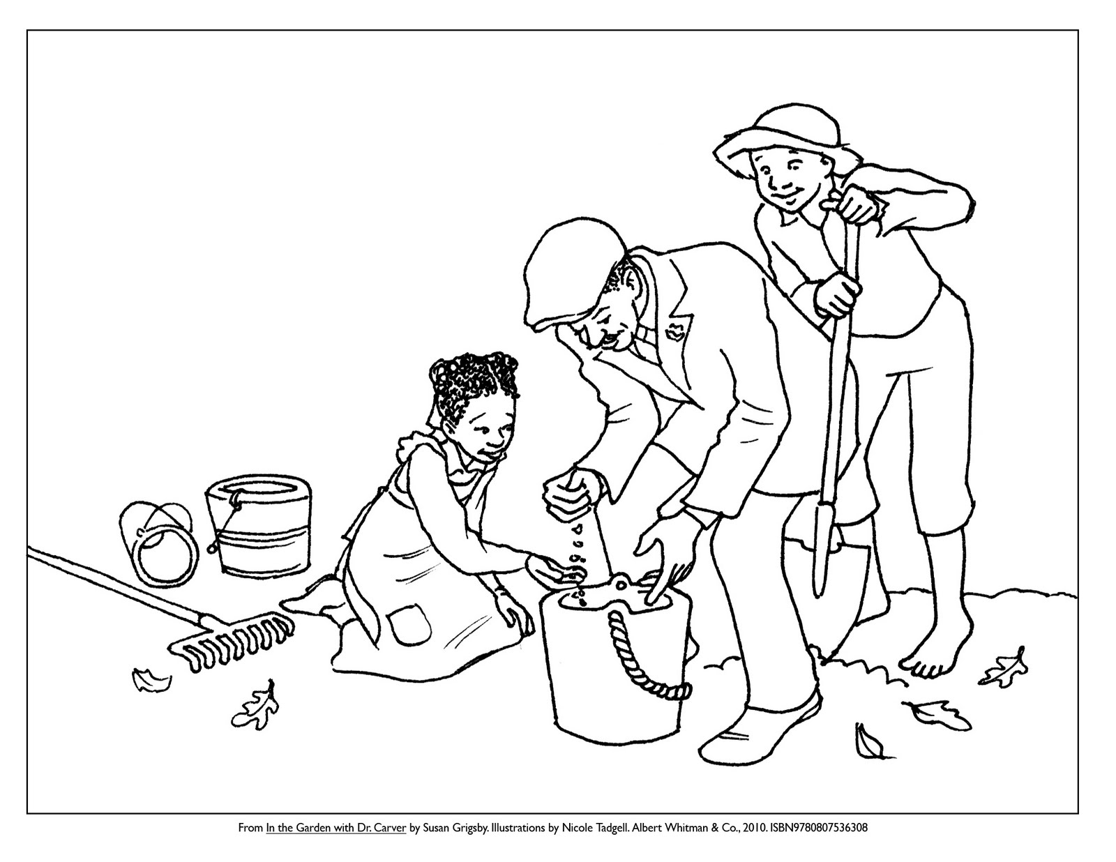 Nicole Tadgell Illustration Coloring Pages For Dr Carver