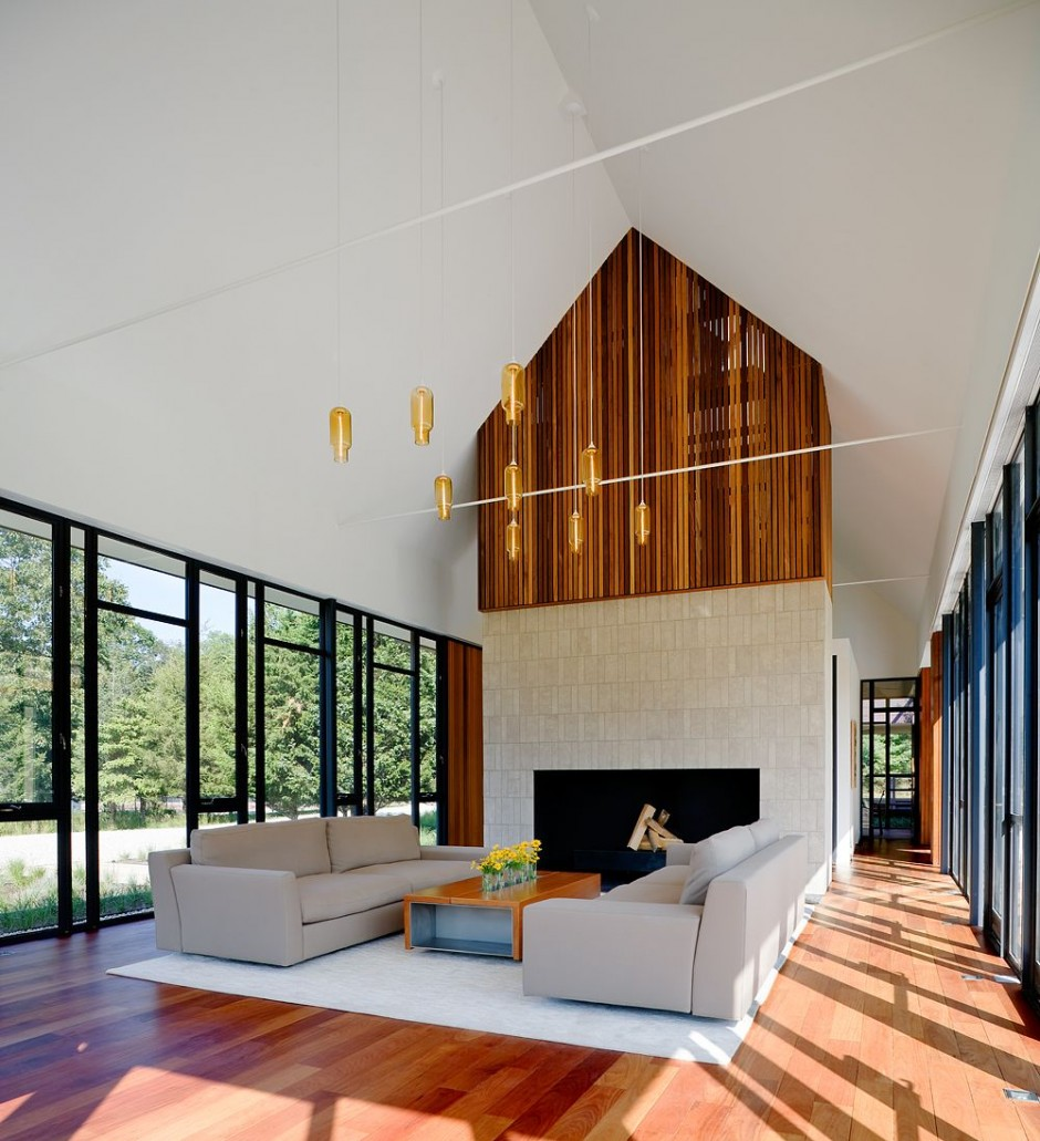 Green Living Room Ideas In East Hampton New York: Cawah-Homes: Northwest Peach Farm Modern Homes With Large