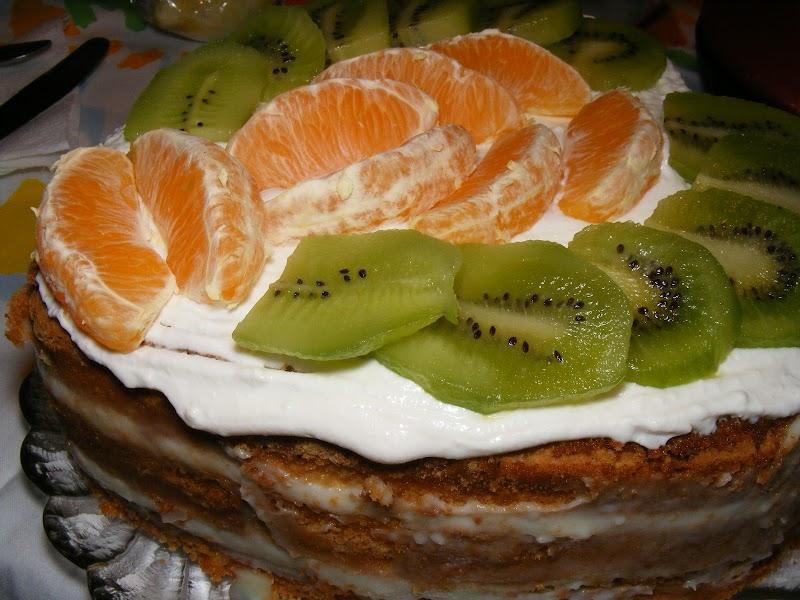 Торта парадизо с млечен крем