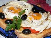 Сандвичи с яйца на очи* Crostoni di uova