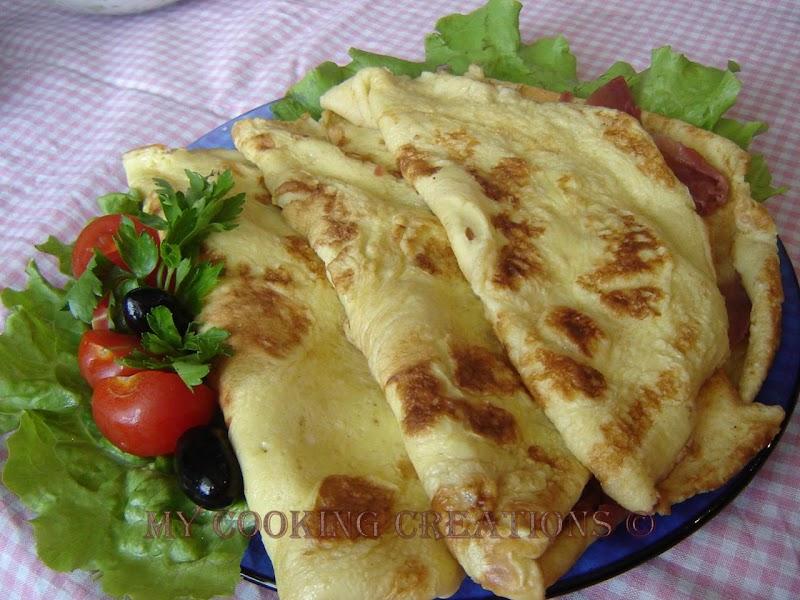 Палачинки с прошуто и моцарела * Crepes con prosciutto e mozzarella