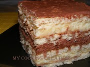 Бисквитена торта с два крема