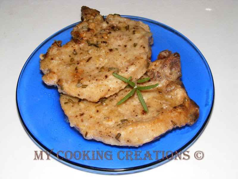Свински котлети с кост на фурна * Braciole di maiale al forno