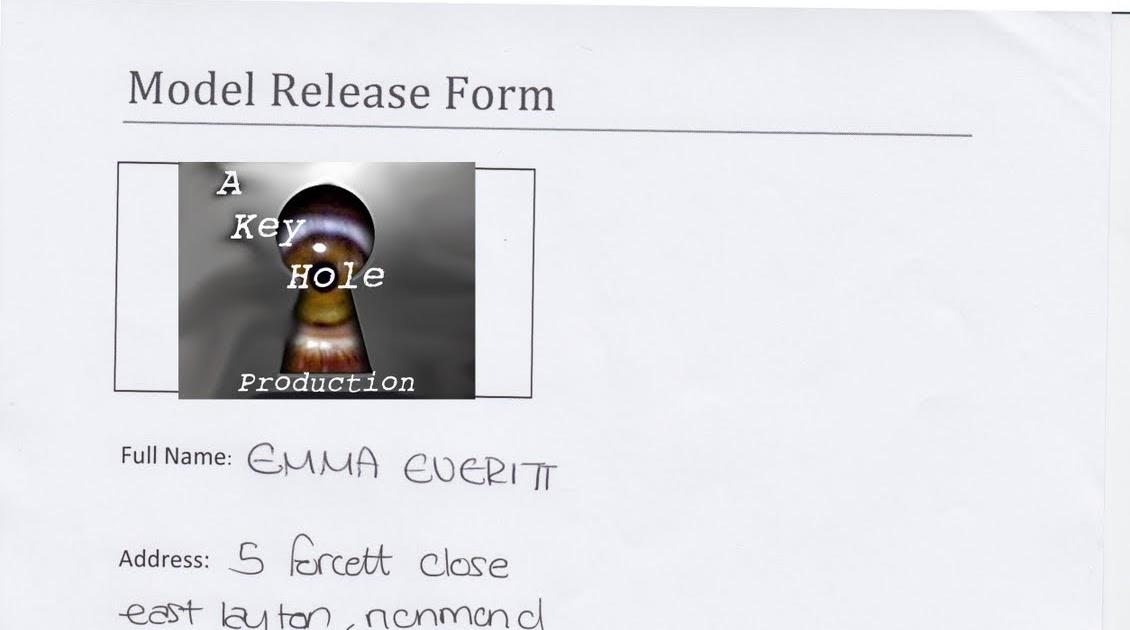 2000 Jess Elsworth A2 Model Release Form - key release form
