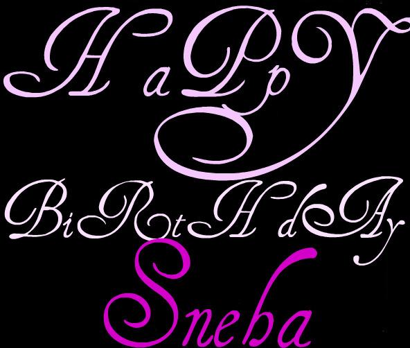Happy Birthday Sneha