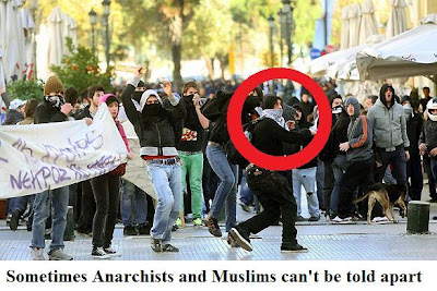 When anarchists and muslims can't be told apart)