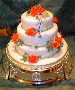 Wedding Cakes Pictures Orange Roses Fall Wedding Cakes