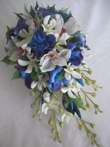blue orchid wedding bouquets bouquet bridal blue orchid bouquets 1940