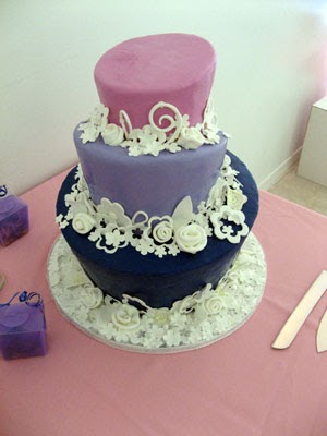 qfc wedding cakes wedding cakes pictures purples blues and pinks 18933