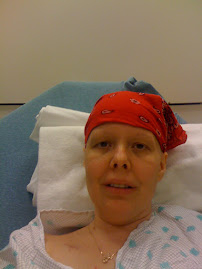 """No brows nor lashes"" day before 1st radiation treatment at ER because of car accident"