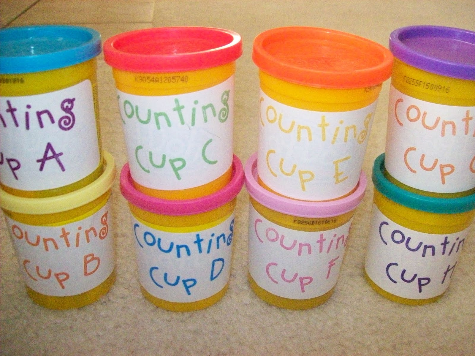 First Grader Last Counting Cups